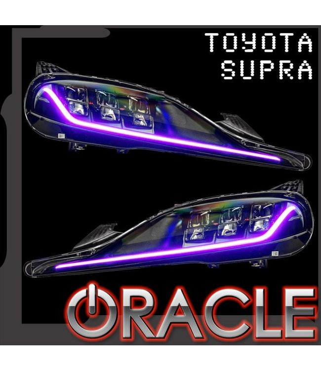 Oracle Lighting 2020-2021 Toyota Supra GR ORACLE ColorSHIFT RGB+A Headlight DRL upgrade