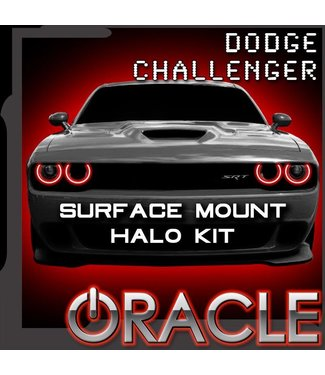Oracle Lighting 2015-2021 Dodge Challenger SXT/RT/SRT/HELLCAT ORACLE Halo Kit - Surface Mount