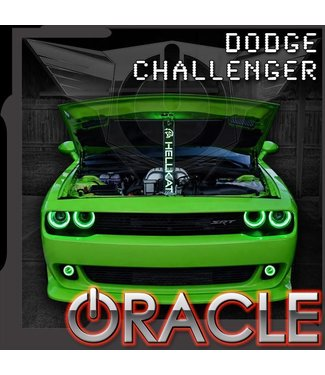 Oracle Lighting 2015-2021 Dodge Challenger ORACLE LED Projector Fog Halo Kit - Surface Mount