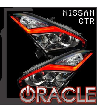 "Oracle Lighting 2015-2021 Nissan GT-R ORACLE ColorSHIFT ""LIGHTNING BOLT"" RGB+W Headlight DRL upgrade"