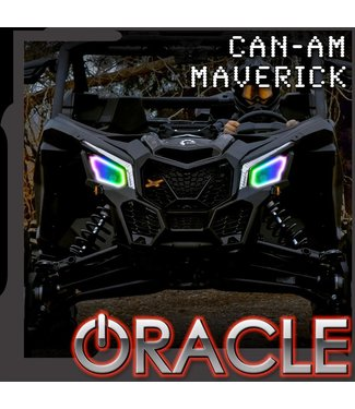 Oracle Lighting 2017-2021 Can-Am Maverick X3 ORACLE Dynamic RGB+W Headlight Halo Kit