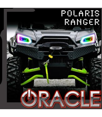 Oracle Lighting 2014-2019 Polaris Ranger 570/900/1000 ORACLE Dynamic RGB+W Headlight Halo Kit
