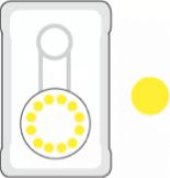 Laadpaal status geel