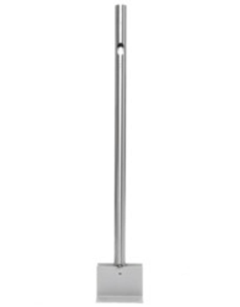 EVBox RVS BusinessLine combipaal (1400 mm) - Montage op het beton
