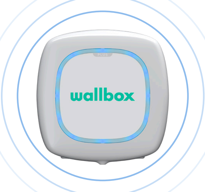 Wallbox status blauw