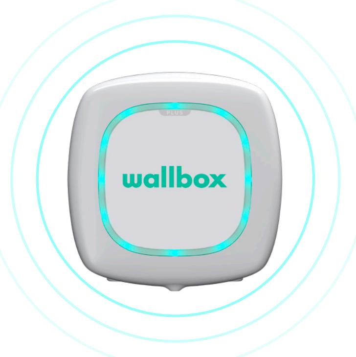 Wallbox status turquoise pulserend