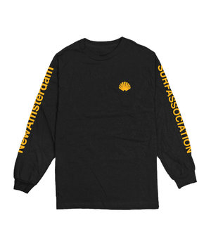 LOGO LONGSLEEVE BLACK/ORANGE