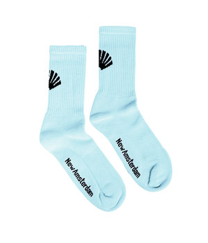 LOGO SOCKS LIGHT BLUE