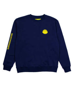 LOGO SWEAT NAVY/YELLOW