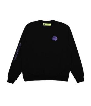 LOGO SWEAT BLACK/PURPLE