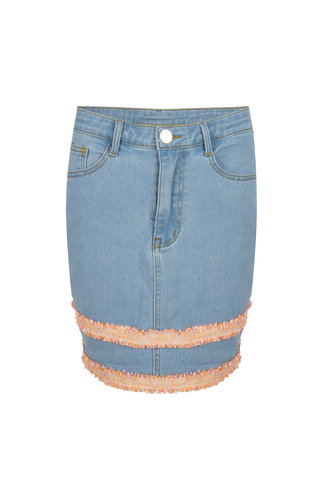 Skirt Luz light blue jeans