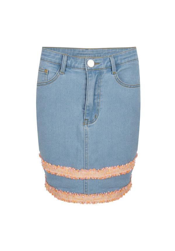 Skirt Luz light blue denim