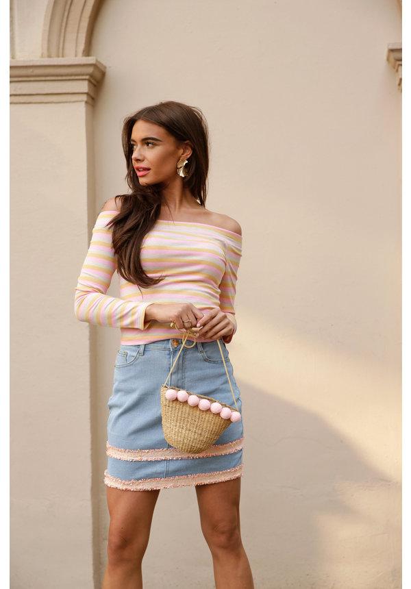Skirt Lug light blue denim