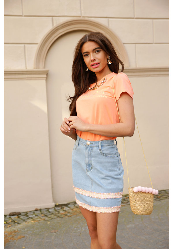 Skirt Luz light blue jeans