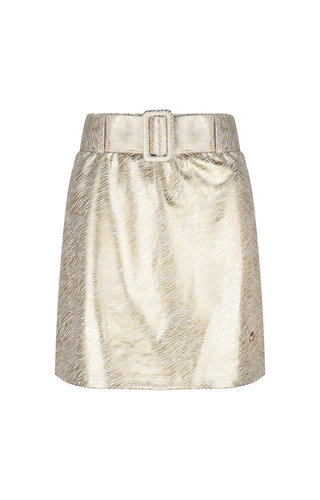 Delousion Skirt Lino Zebra Gold