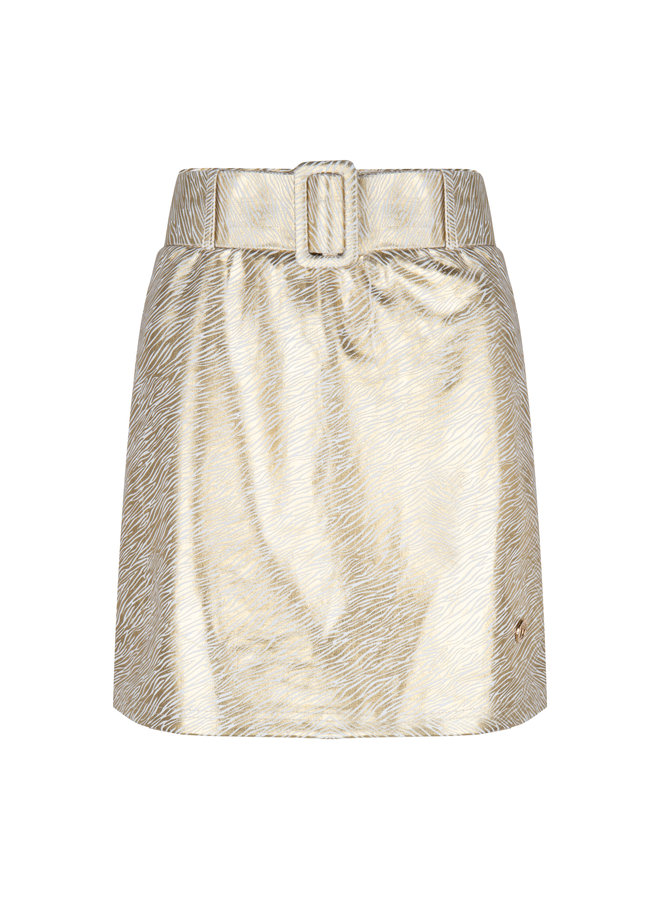 Skirt Lino Zebra  Gold