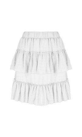 Delousion Skirt Stellan Ruffle Offwhite