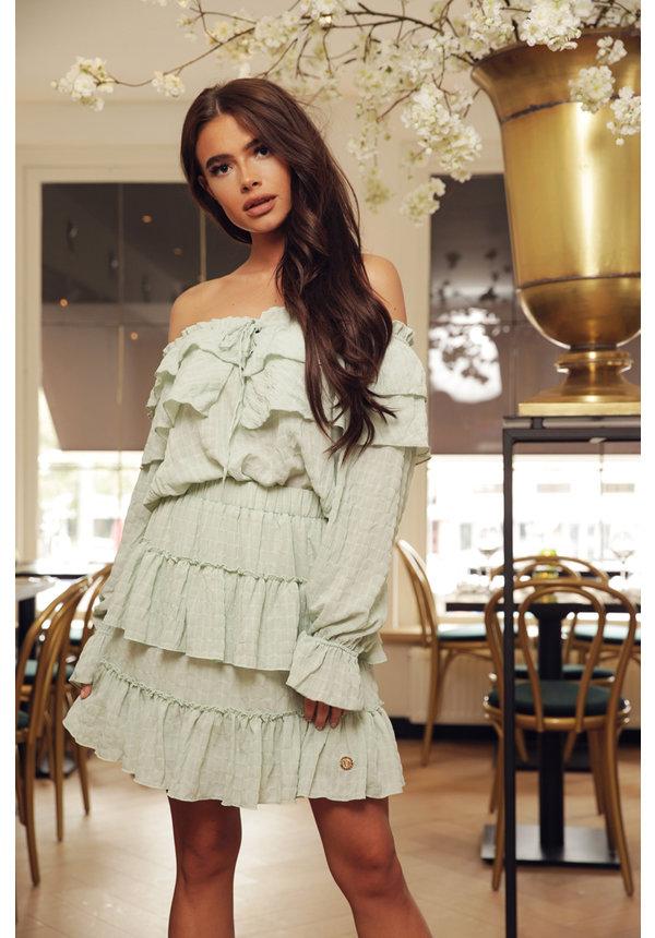 Skirt Stellan Green Ruffle