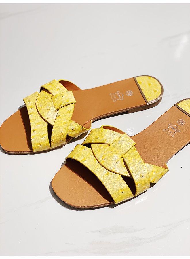 Hottest spot sandals - Yellow #D716A