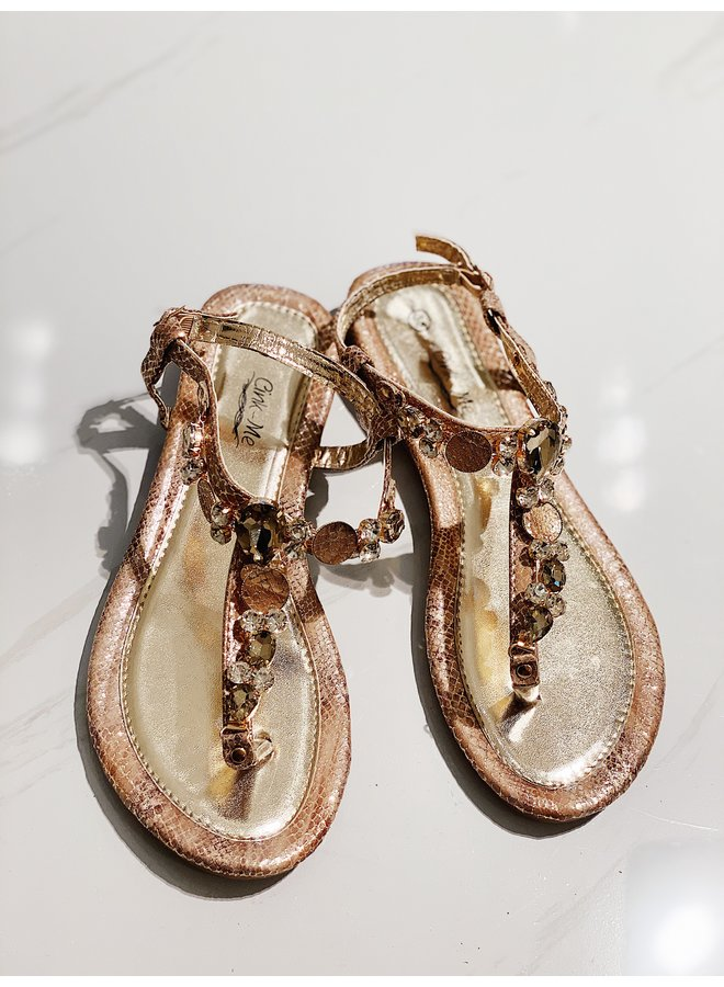 Bling it out slippers - Pink snake #LB19-63
