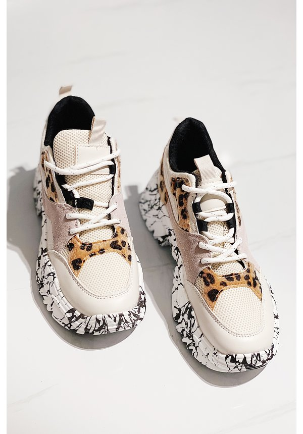 Faster than you sneakers - White CB-19150