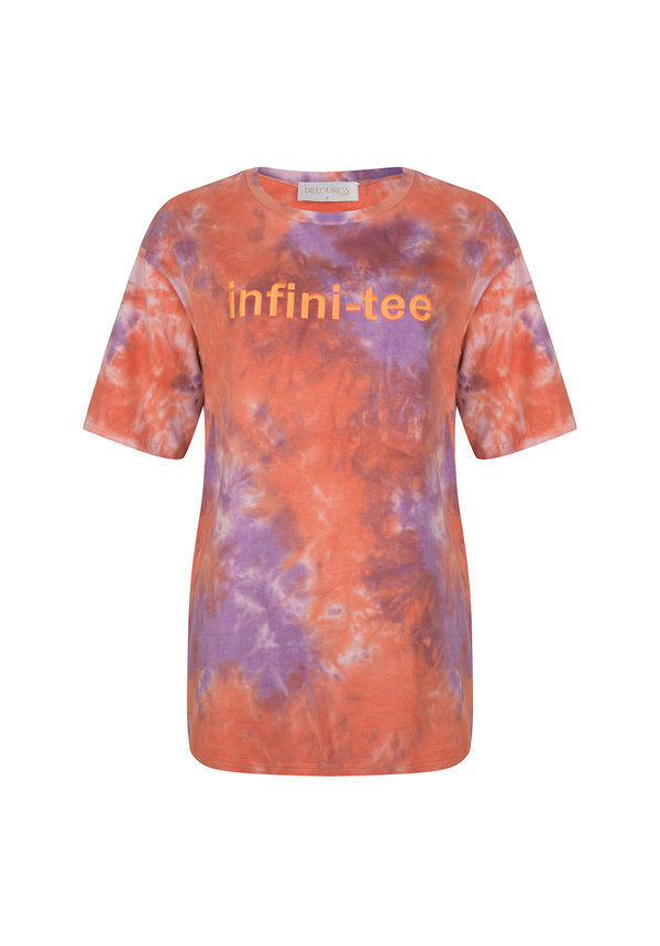 Top Infiniti-tee Purple Orange