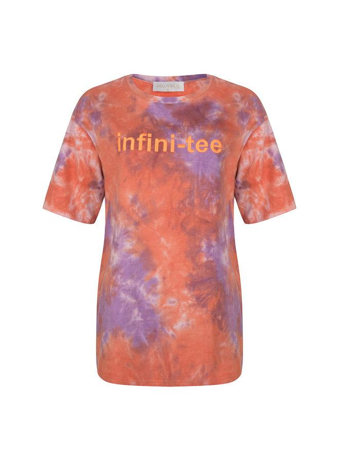 Top Infiniti-tee Purple Orange