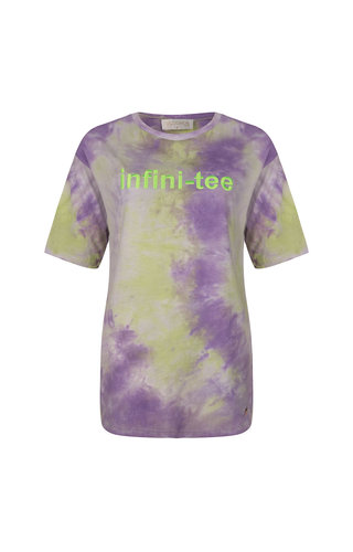 Delousion Top Infiniti-tee Purple Green