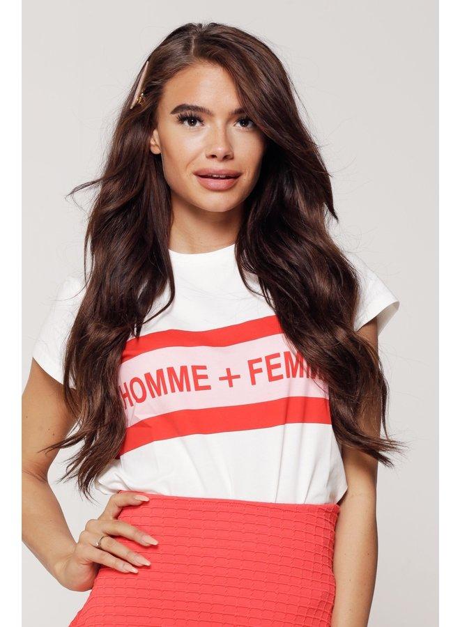 Top Femme White