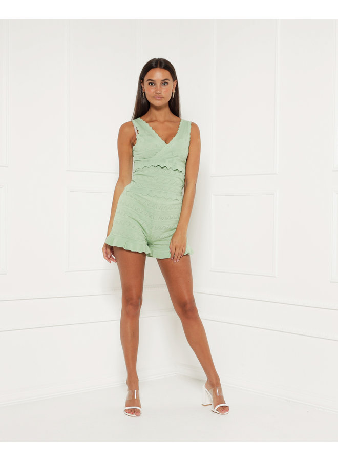 Cool and comfy shorts - green #1361-1