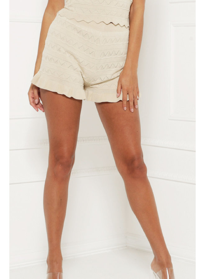 Cool and comfy shorts - beige #1361-1