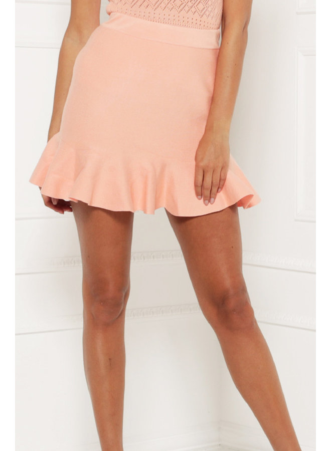 Forever young skirt - peach #1328-1
