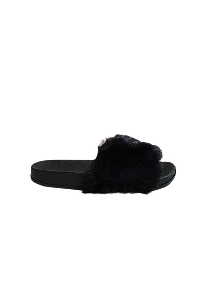 All fur you slides - black #CD201