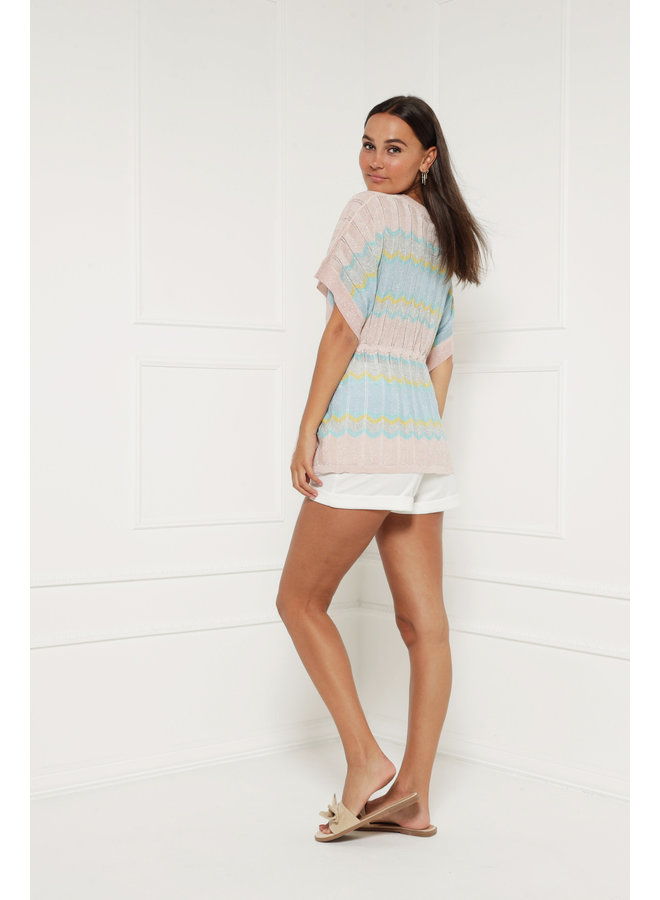 One day away top - multicolor #1393