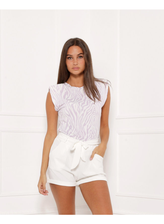 Crossed the line top - white #1408