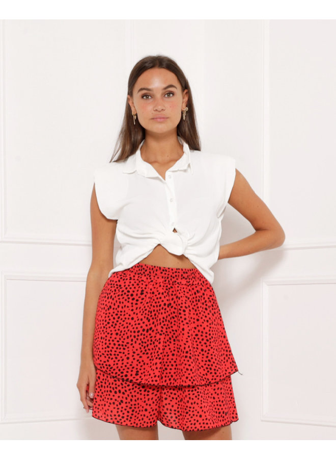 Loose ties top - white #1412