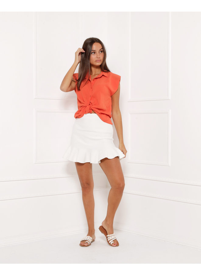 Loose ties top - orange #1412