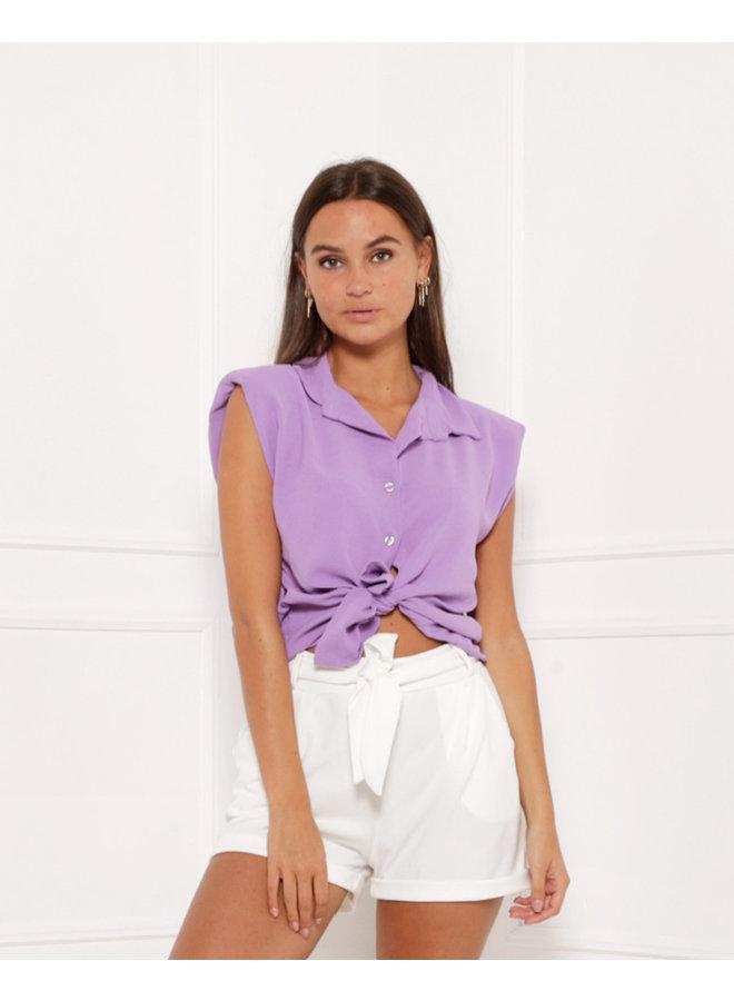 Loose ties top - purple #1412