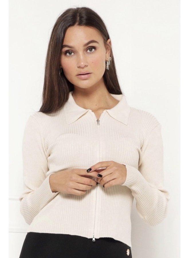 Work zipper up top - beige #1481