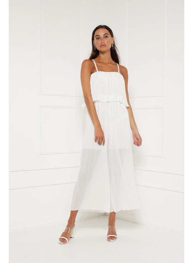 Stole your heart jumpsuit - white #1377