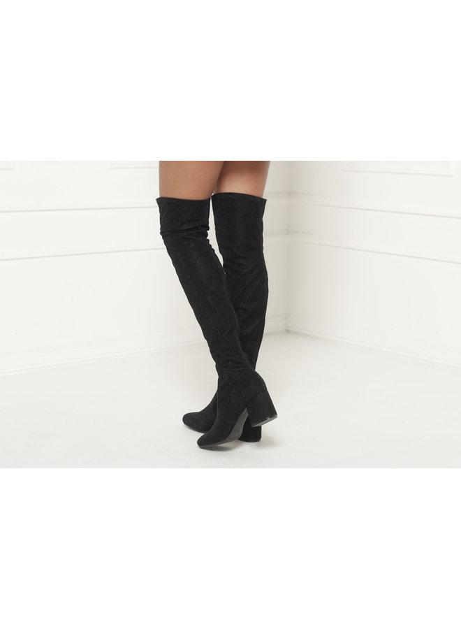 Let It Sparkle Boots - Black #BO10-078