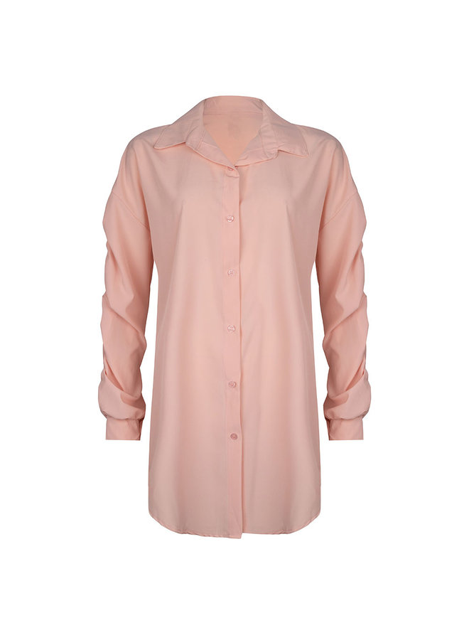 Ruched blouse - peach #1520