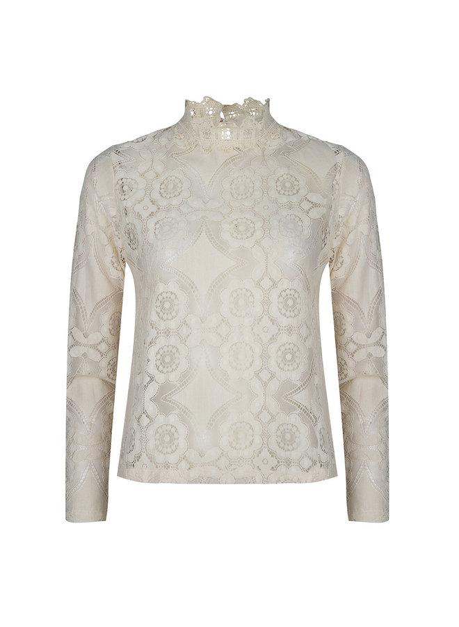 Rose lace top - creme #1501
