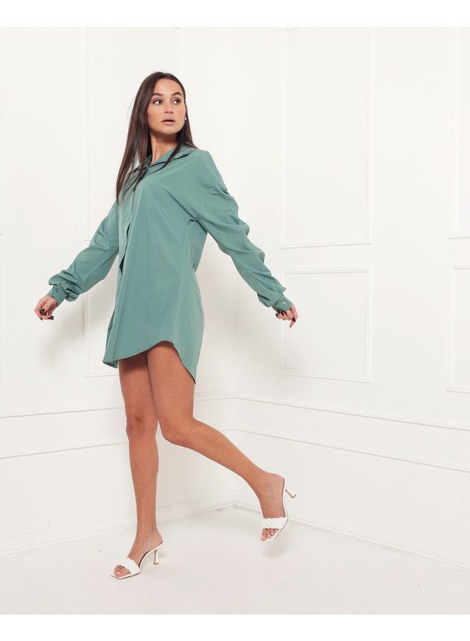 Ruched blouse - green #1520