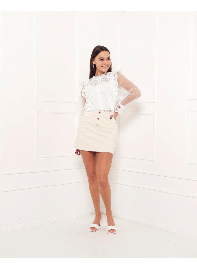 Noa lace top - white #1502