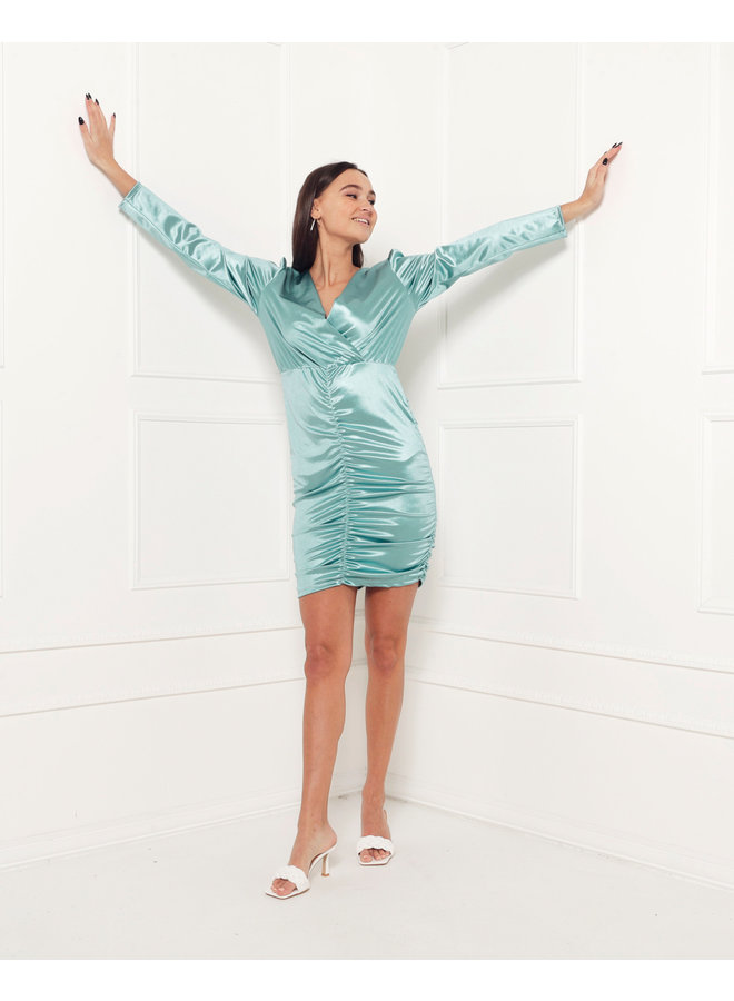 Ruched bodycon dress - mint #1506