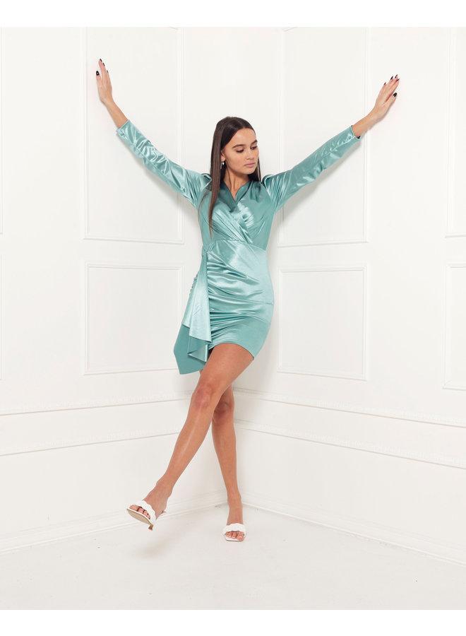 Velvet bodycon dress - mint #1517