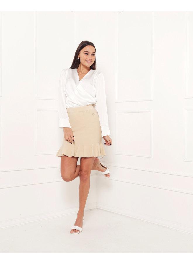 Satin bodysuit - white #1505