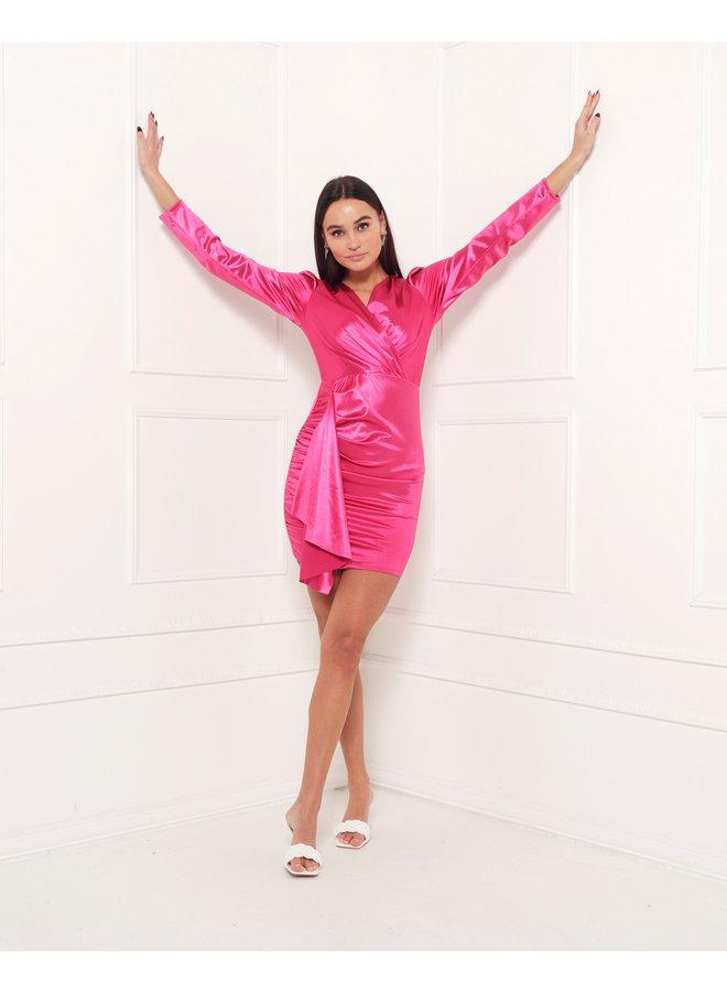Velvet bodycon dress - pink #1517