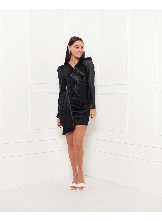 Velvet bodycon dress - black #1517